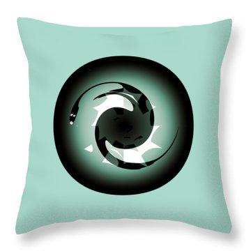 Baby Dragon Throw Pillow by Krzysztof Spieczonek