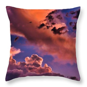 Baby Dragon's Fledgling Flight Throw Pillow