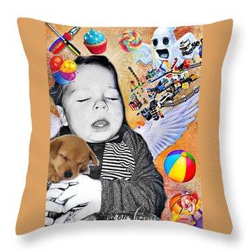 Baby Dreams Throw Pillow by Vennie Kocsis