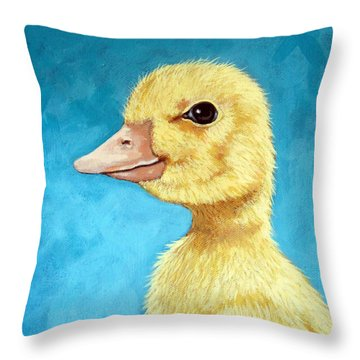 Baby Duck - Spring Duckling Throw Pillow