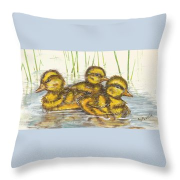 Baby Ducks For Ma Throw Pillow