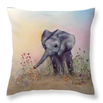 Baby Ellie  Throw Pillow