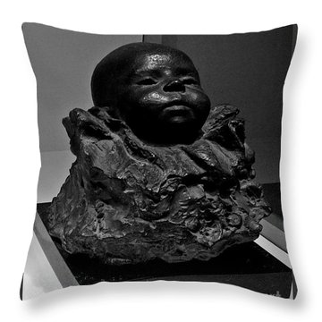 Baby Face Stone Art Throw Pillow