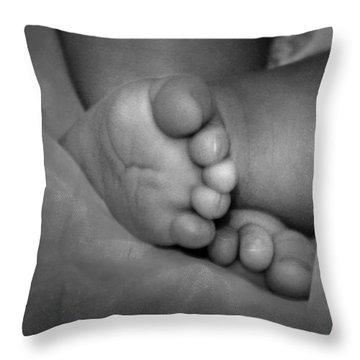 Baby Feet Throw Pillow