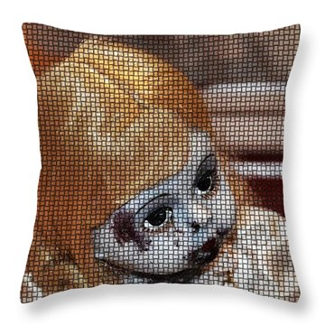 Baby Girl Two Throw Pillow