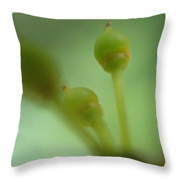 Baby Grapes Throw Pillow