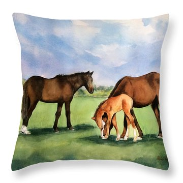 Baby Horse Throw Pillow