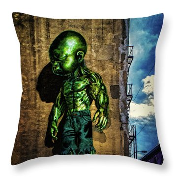 Throw Pillow featuring the photograph Baby Hulk by Chris Lord