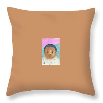 Baby Isabella Throw Pillow