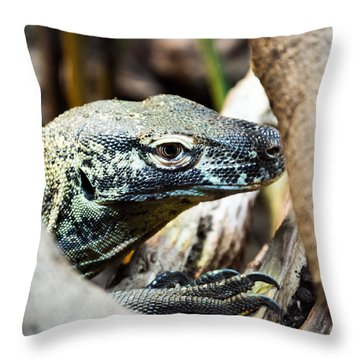 Throw Pillow featuring the photograph Baby Komodo Dragon by Scott Lyons