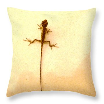 Baby Lizard Throw Pillow