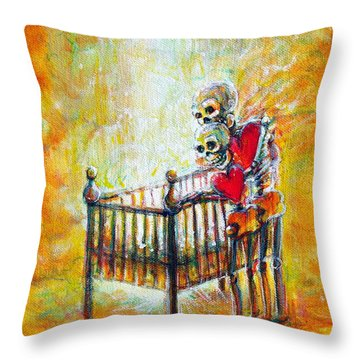 Throw Pillow featuring the painting Baby Love by Heather Calderon