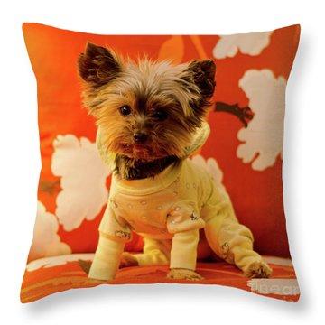 Baby Mel In Pjs Throw Pillow