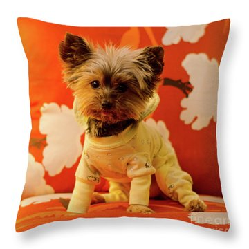 Baby Mel In Pjs Throw Pillow