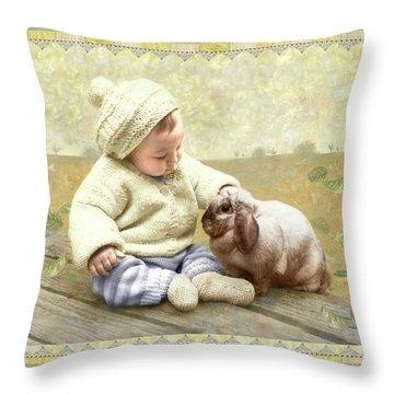 Baby Pats Bunny Throw Pillow
