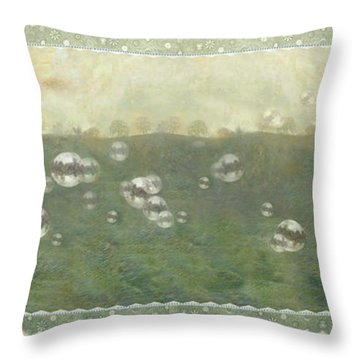 Baby Pops Bubbles Throw Pillow
