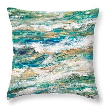 Baby Sea Turtle II Throw Pillow