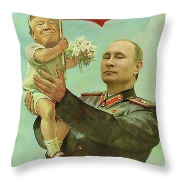Baby Trump Putin Throw Pillow