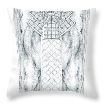 Babylonian Sphinx Lamassu Throw Pillow by Curtiss Shaffer