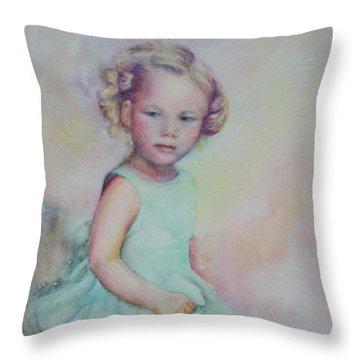 Baby's Debut Throw Pillow