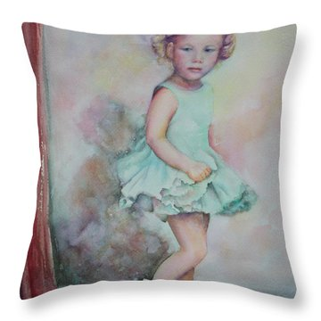 Baby's Debut Throw Pillow