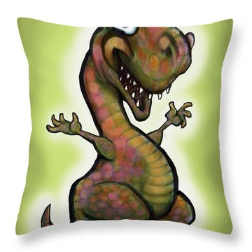 Babysaurus Rex Throw Pillow