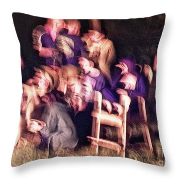 Bacchanalian Freak Show With Hieronymus Bosch Treatment Throw Pillow