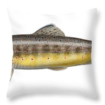 Bachforelle - Indigene - Autochthone- Beekforel - Oering - Truite De Riviere - Trucha Comun Throw Pillow