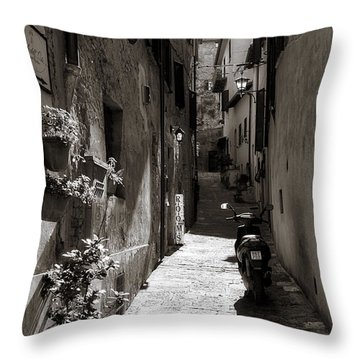 Back Alley 1 Throw Pillow by Deborah Scannell