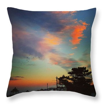 Jersey Shore Colors Throw Pillow by Lauren Fitzpatrick