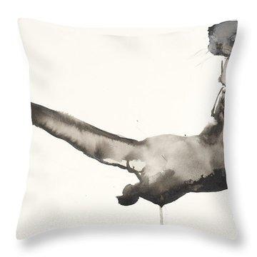 Back Awash   Otter Throw Pillow by Mark Adlington