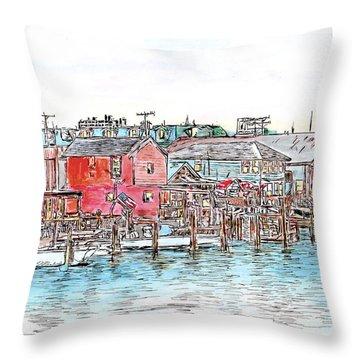 Back Bay, Atlantic City, Nj Throw Pillow