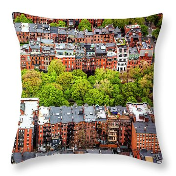 Throw Pillow featuring the photograph Back Bay Boston  by Carol Japp