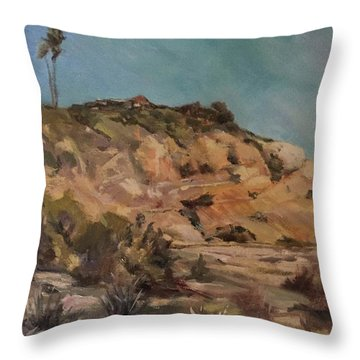 Back Bay Cliff 1 Throw Pillow