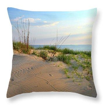 Back Bay Dunes Throw Pillow
