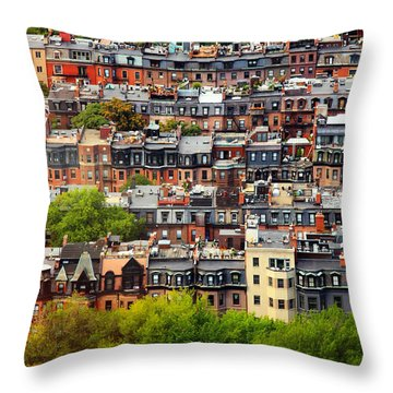 Back Bay Throw Pillow by Rick Berk