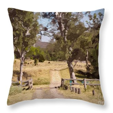 Back Country Farm Track Throw Pillow