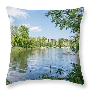 Back Creek At Severn House Throw Pillow