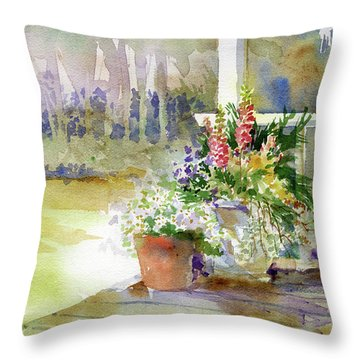 Back Deck Throw Pillow