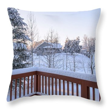 Morning Sun Winter Light Throw Pillow
