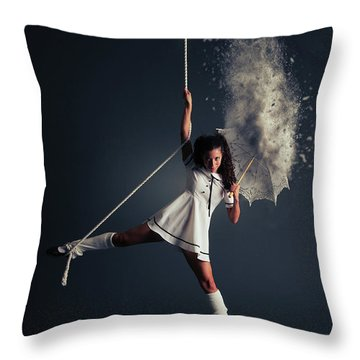Back Down To Earth Throw Pillow