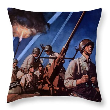 Back 'em Up With More Metal  Throw Pillow
