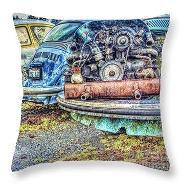 Throw Pillow featuring the photograph Back End Bugs by Jean OKeeffe Macro Abundance Art