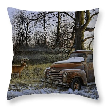 Back Forty Throw Pillow