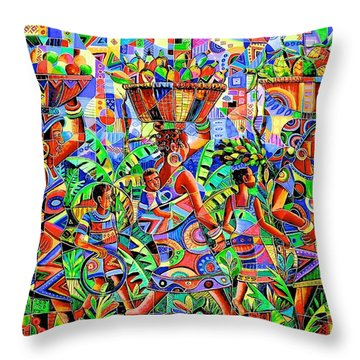 Back From The Harvest Throw Pillow