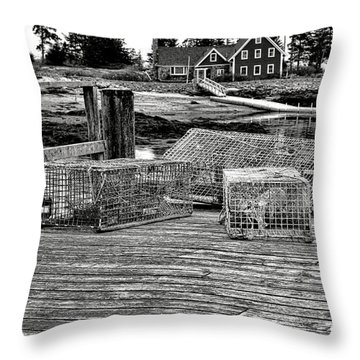 Back In Maine Throw Pillow by Olivier Le Queinec