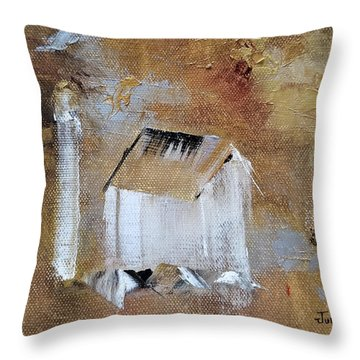 Throw Pillow featuring the painting Back In The Day by Judith Rhue