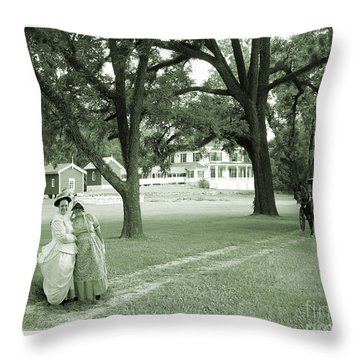 Back In Time At Hardman Farm Throw Pillow