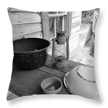 Back In Time B - W Throw Pillow