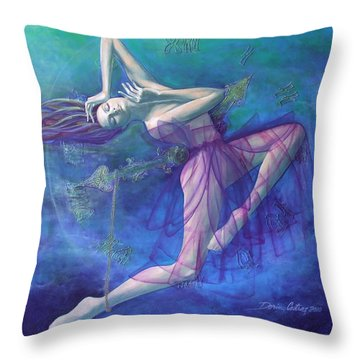 Back In Time Throw Pillow by Dorina  Costras